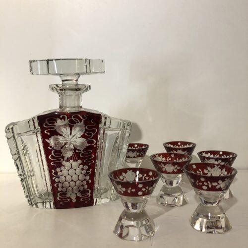 Set Bicchieri con Bottiglia