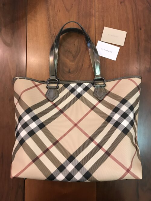 Burberry Shopper Tela Check