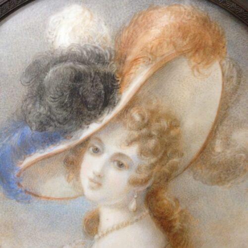 Miniatura Dama con CappelloMiniatura Dama con Cappello
