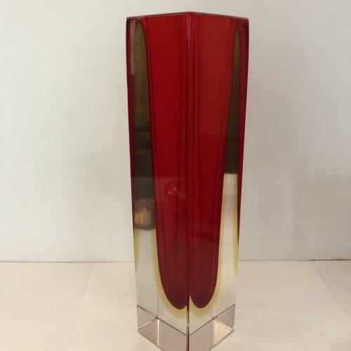 Vaso Rosso vetro sommerso