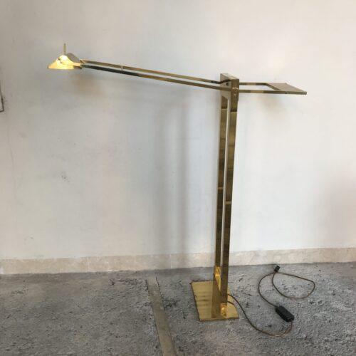 Lampada a piantana in ottone