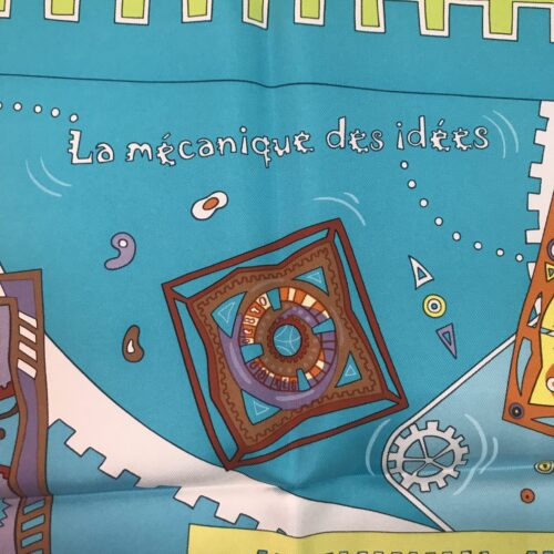 """Hermes Foulard """"La mécanique des idées"""""""