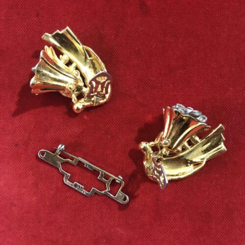 Coro Spilla a doppia Clip Duette in Argento