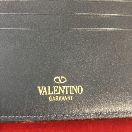 Valentino Garavani portafoglio compatto in pelle blu