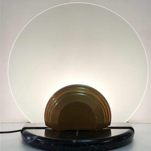 """Bruno Gecchelin, Lampada Modello """"Gong"""", Produzione Skipper & Pollux"""