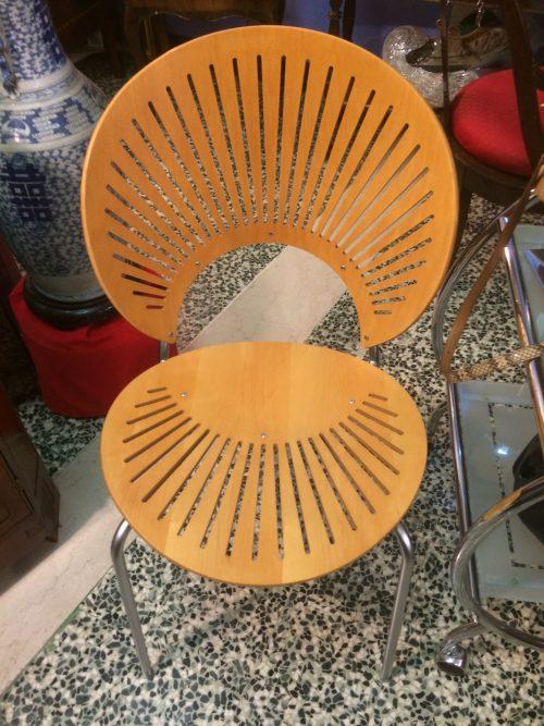 Nr 5 sedie Modello Trinidad, Produzione Fredericia, Disigner Nanna Ditzel