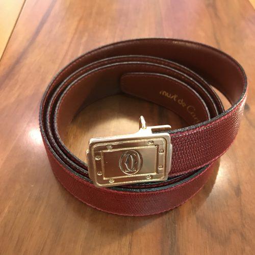 Cartier Cintura Modello Santos in Pelle Boudeux