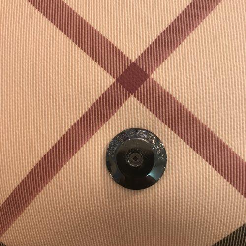 Burberry Tracolla in Tela Check e Vernice nera con Certificati