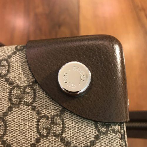 Gucci Modello Shopper in tela logata GG e Pelle