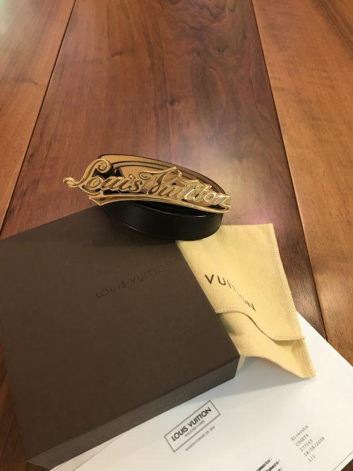 Louis Vuitton Cinturina in Pelle Nera
