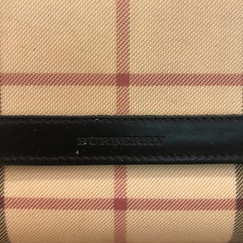 Burberry Portafoglio in Tela Check e Pelle