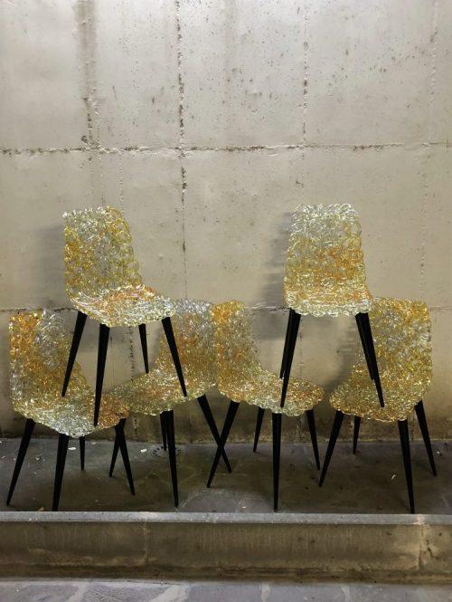"""Nr 6 Sedie Modello """"Gina"""", Designer Jacopo Foggini, Produzione Edra 2014"""