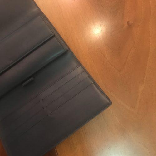 Louis Vuitton Portafoglio Pelle Monogram Mat Colore Grigio/Blu